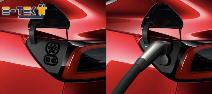 Разъем для зарядки европейской версии Tesla Model S